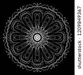 beautiful round flower mandala. ... | Shutterstock .eps vector #1209849367