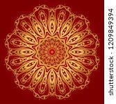 design with floral mandala... | Shutterstock .eps vector #1209849394