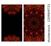 relax cards with mandala formed ... | Shutterstock .eps vector #1209849721