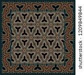 geometric pattern. vector... | Shutterstock .eps vector #1209849844