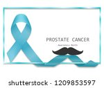 blue ribbon with border and... | Shutterstock .eps vector #1209853597
