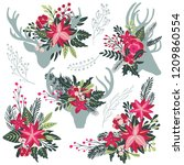 set of colorful christmas... | Shutterstock .eps vector #1209860554