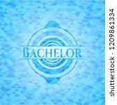 bachelor sky blue emblem with... | Shutterstock .eps vector #1209861334