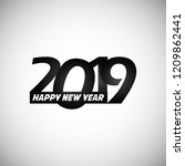 happy new year 2019 design with ...   Shutterstock .eps vector #1209862441