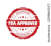 red fda approved grunge stamp... | Shutterstock . vector #1209863317