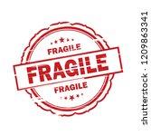 fragile grunge stamp on white... | Shutterstock . vector #1209863341