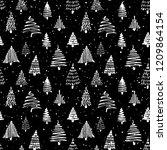 christmass tree seamless... | Shutterstock .eps vector #1209864154