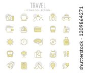 collection of travel thin line...   Shutterstock .eps vector #1209864271