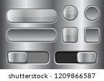 square and round buttons ... | Shutterstock . vector #1209866587