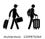 pictogram people with luggage   ...   Shutterstock .eps vector #1209876364