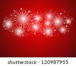 Starry Fireworks Background...
