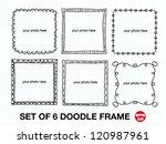 set of 6 doodle frames  free...