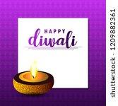 diwali design purple background ...   Shutterstock .eps vector #1209882361