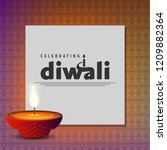 diwali design with unique style ...   Shutterstock .eps vector #1209882364