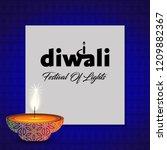 diwali design blue background...   Shutterstock .eps vector #1209882367