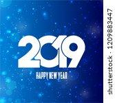 2019 happy new year typography... | Shutterstock .eps vector #1209883447