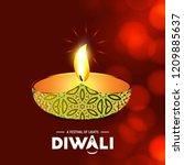 happy diwali creative design...   Shutterstock .eps vector #1209885637