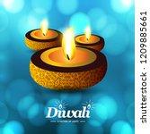 happy diwali creative design...   Shutterstock .eps vector #1209885661