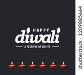 diwali design with dark...   Shutterstock .eps vector #1209885664