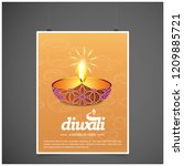 diwali design yellow background ...   Shutterstock .eps vector #1209885721