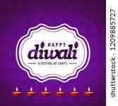 diwali design purple background ...   Shutterstock .eps vector #1209885727