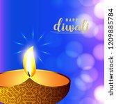 happy diwali creative design...   Shutterstock .eps vector #1209885784
