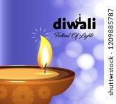 happy diwali creative design...   Shutterstock .eps vector #1209885787