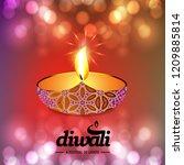 diwali design with pink...   Shutterstock .eps vector #1209885814