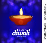 happy diwali creative design...   Shutterstock .eps vector #1209885817