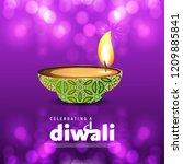 diwali design purple background ...   Shutterstock .eps vector #1209885841
