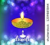 happy diwali creative design...   Shutterstock .eps vector #1209885844