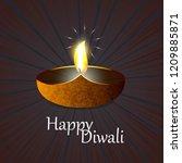 diwali design dark background...   Shutterstock .eps vector #1209885871