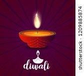 happy diwali creative design...   Shutterstock .eps vector #1209885874