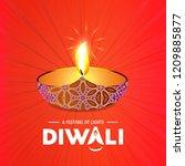 happy diwali creative design...   Shutterstock .eps vector #1209885877