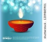 happy diwali creative design... | Shutterstock .eps vector #1209885901