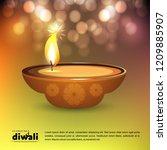 diwali design with green...   Shutterstock .eps vector #1209885907