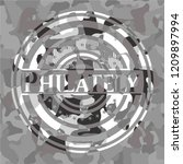 philately grey camo emblem | Shutterstock .eps vector #1209897994