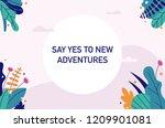 fantasy tropical leaves...   Shutterstock .eps vector #1209901081