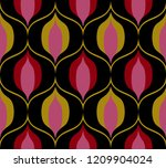 seamless retro pattern in the... | Shutterstock .eps vector #1209904024