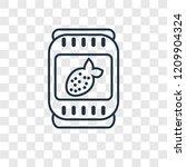 jam concept vector linear icon... | Shutterstock .eps vector #1209904324