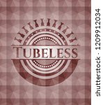 tubeless red geometric badge.... | Shutterstock .eps vector #1209912034