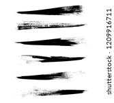 vector set of grunge brush... | Shutterstock .eps vector #1209916711