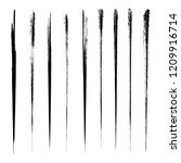 vector set of grunge brush... | Shutterstock .eps vector #1209916714