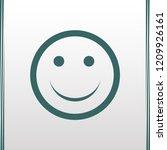 smile vector web icon | Shutterstock .eps vector #1209926161