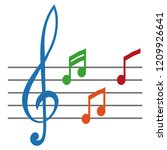 simple musical note symbol ... | Shutterstock .eps vector #1209926641
