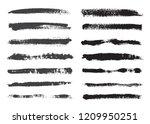 vector grunge brushes. dirty... | Shutterstock .eps vector #1209950251