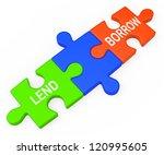 lend borrow showing borrowing... | Shutterstock . vector #120995605