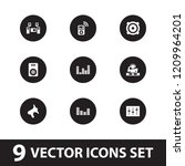 stereo icon. collection of 9... | Shutterstock .eps vector #1209964201