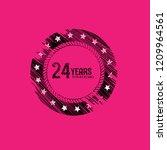 grunge 24 years anniversary...   Shutterstock .eps vector #1209964561