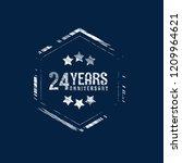 grunge 24 years anniversary...   Shutterstock .eps vector #1209964621